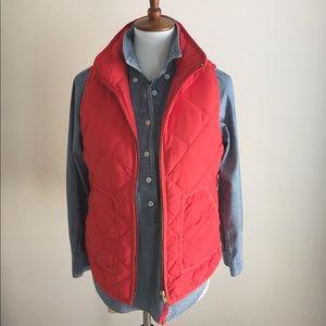 J. Crew Jackets & Coats - J Crew Puffer Vest   Melon   Sz XS